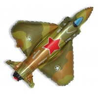 Шар фольгированный с гелием Самолёт военный