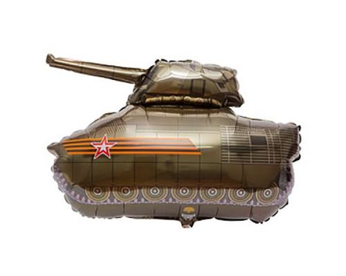 Шар фольгированный  с гелием Танк русский
