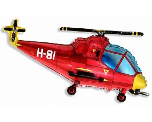 Шар фольгированный  с гелием Вертолёт