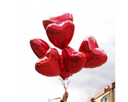 Набор фольгированных сердец на День всех влюблённых