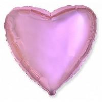 Шар фольгированный с гелием сердце Нежно розовое большое