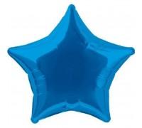 Шар фольгированный с гелием в форме синей звезды