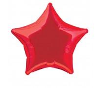 Шар фольгированный с гелием в форме красной звезды