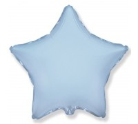 Шар фольгированный с гелием в форме голубой звезды