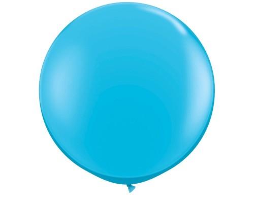 Шар латексный с гелием цвет голубой размер 90 см