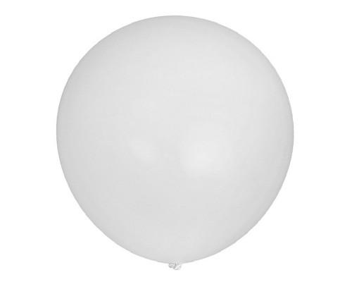 Шар латексный с гелием цвет белый размер 90 см