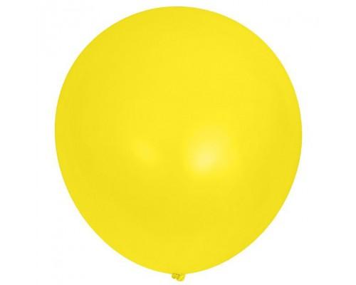 Шар латексный с гелием цвет жёлтый размер 65 см