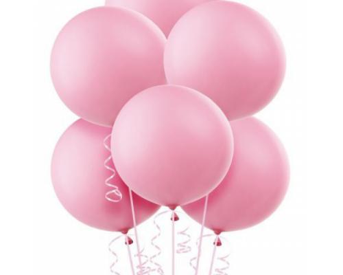 Шар латексный большой розового цвета размер 40 см