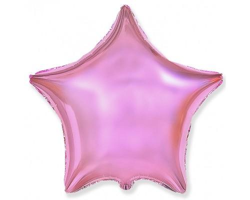 Шар фольгированный с гелием в форме нежно-розовой звезды