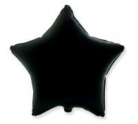 Шар фольгированный с гелием в форме чёрной звезды