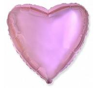 Шар фольгированный с гелием в форме нежно-розового сердца
