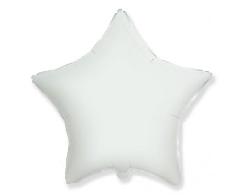 Шар фольгированный с гелием в форме белой  звезды