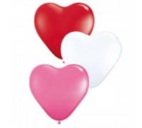 Шар латексный с гелием в форме сердца