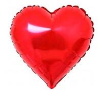 Шар фольгированный с гелием в форме красного сердца