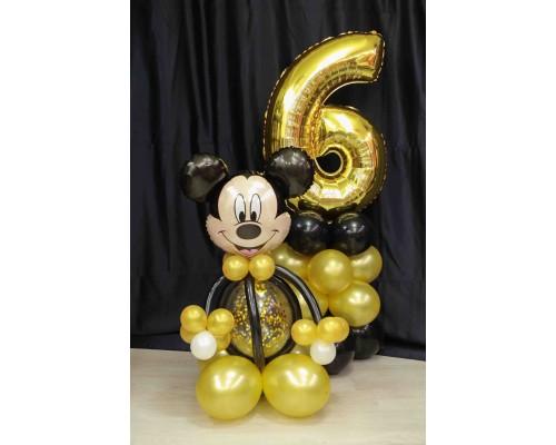 Набор шаров на день рождения Микки и цифра