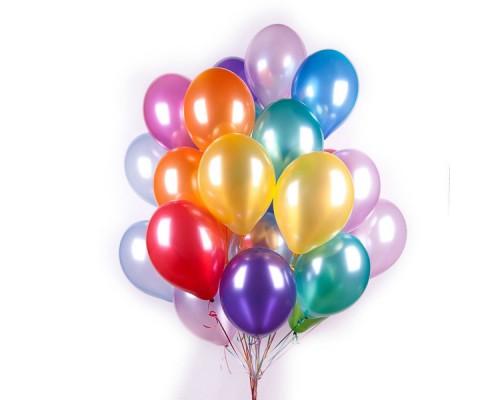 Букет из 30-ти гелиевых шаров Разноцветный