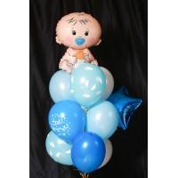 Набор гелиевых шаров на выписку из роддома для мальчика
