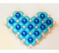 Сердце из воздушных шаров объёмное