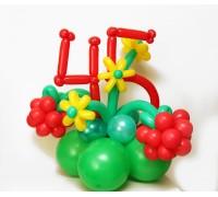 Композиция из воздушных шаров с цифрами