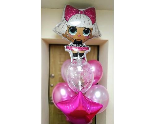 Набор гелиевых шаров с куклой ЛОЛ