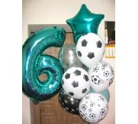 Набор гелиевых шаров на день рождения Футбол