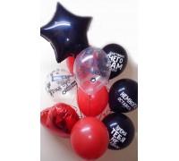 Букет из гелиевых шаров на день рождения Лучшей подруге
