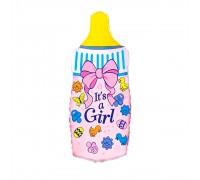 Шар фольгированный с гелием бутылочка для девочки
