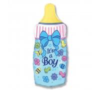 Шар фольгированный с гелием бутылочка для мальчика