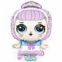 Шар фольгированный с гелием Модная куколка принцесса