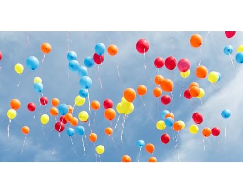 Гелиевые шары для запуска в небо 100 штук